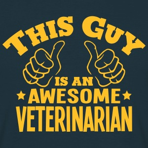 this guy is an awesome veterinarian - Men's T-Shirt