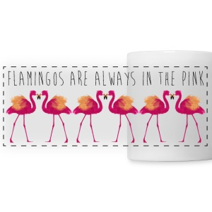 Animal Planet All Flamingo are in the pink - Panoramic Mug