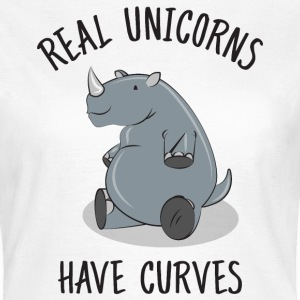 Real unicorns have curves Tee shirts - T-shirt Femme