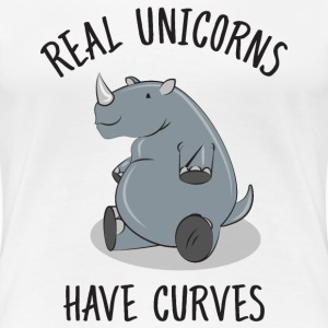 Real unicorns have curves T-Shirts - Frauen Premium T-Shirt