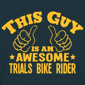this guy is an awesome trials bike rider - Men's T-Shirt