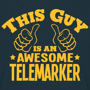 this guy is an awesome telemarker - Men's T-Shirt