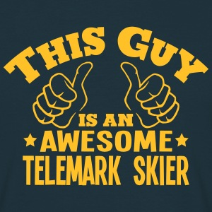 this guy is an awesome telemark skier - T-shirt Homme
