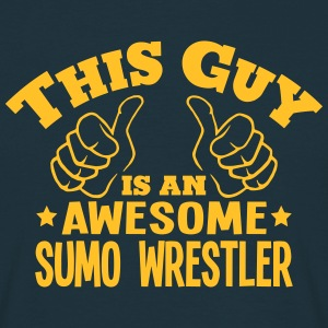 this guy is an awesome sumo wrestler - Men's T-Shirt