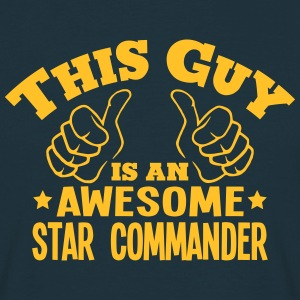 this guy is an awesome star commander - Men's T-Shirt