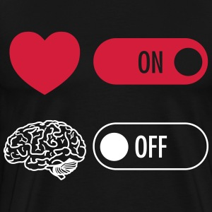 Heart on Brain off T-skjorter - Premium T-skjorte for menn