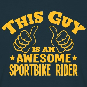 this guy is an awesome sportbike rider - Men's T-Shirt