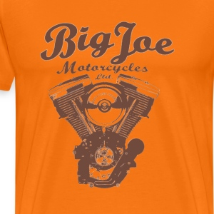 Big Joe Motorcycles Ltd. (braun auf orange) - Männer Premium T-Shirt