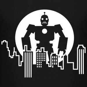 Robot Skyline T-Shirts - Teenager Premium T-Shirt