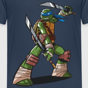 TMNT Turtles Leonardo Ready For Action - Camiseta premium niño