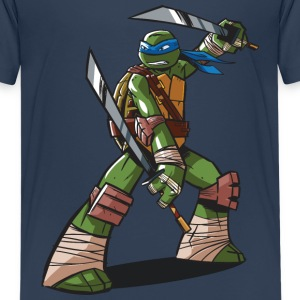 Tortues Ninja Leonardo À L'Attaque - T-shirt Premium Ado