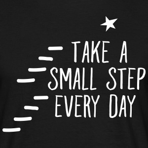 Take A Small Step Every Day T-shirts - Herre-T-shirt