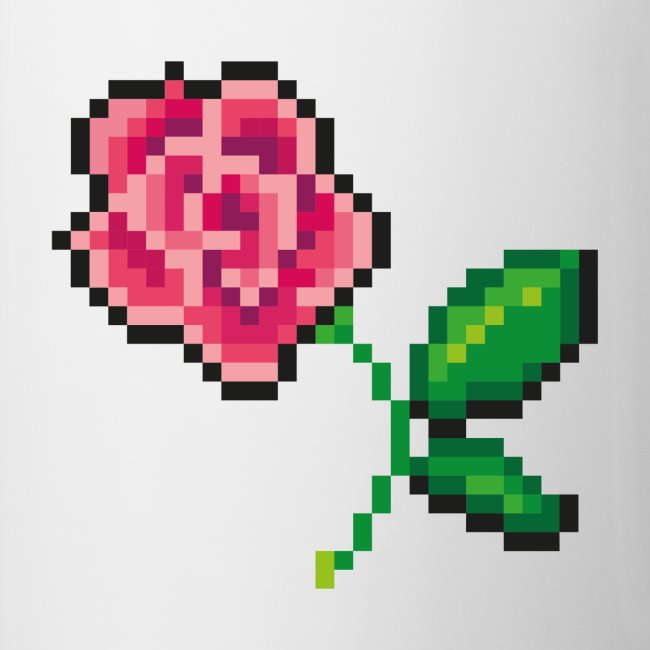 Pixel Rose Tasse