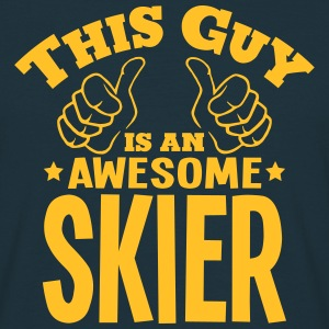 this guy is an awesome skier - T-shirt Homme