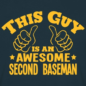 this guy is an awesome second baseman - Men's T-Shirt