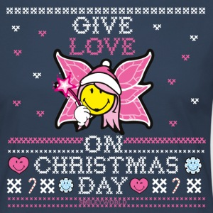 SmileyWorld Cute Christmas Elf Give Love - Vrouwen Premium shirt met lange mouwen