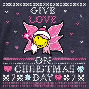 SmileyWorld Cute Christmas Elf Give Love - Felpa con scollo a barca da donna, marca Bella