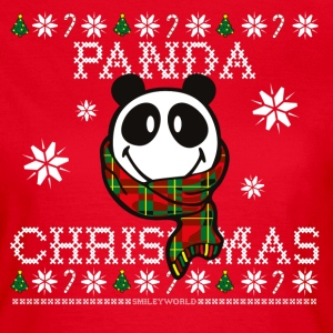 SmileyWorld Weihnachten Panda Christmas - Frauen T-Shirt