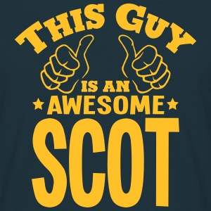 this guy is an awesome scot - T-shirt Homme