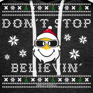SmileyWorld Christmas Santa Don't Stop Believing - Felpa con cappuccio premium da uomo