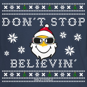 SmileyWorld Christmas Santa Don't Stop Believing - Maglietta Premium a manica lunga per teenager