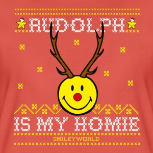 SmileyWorld My Homie Rudolph - Women's Premium T-Shirt