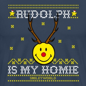 SmileyWorld My Homie Rudolph - Premium T-skjorte for menn