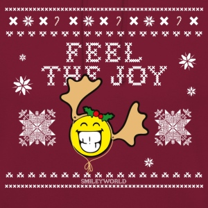 SmileyWorld Humour Feel The Joy Reindeer - Bluza z kapturem typu unisex
