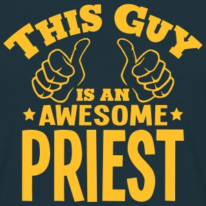 this guy is an awesome priest - Men's T-Shirt