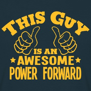 this guy is an awesome power forward - Men's T-Shirt