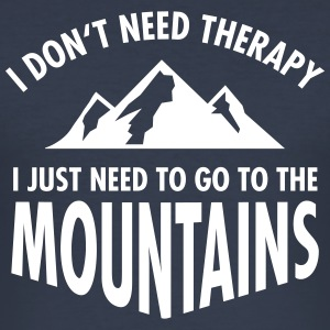 Therapy - Mountains T-Shirts - Männer Slim Fit T-Shirt