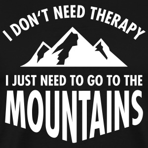 Therapy - Mountains T-Shirts - Men's Premium T-Shirt