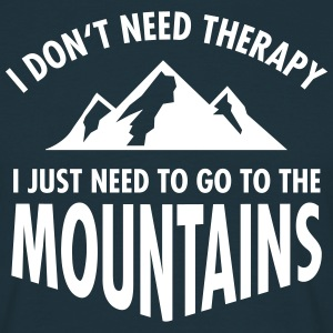 Therapy - Mountains T-Shirts - Männer T-Shirt