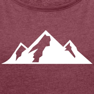 Mountain Icon T-Shirts - Women's T-shirt with rolled up sleeves