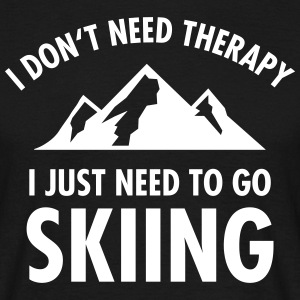 Therapy - Skiing T-shirts - Mannen T-shirt