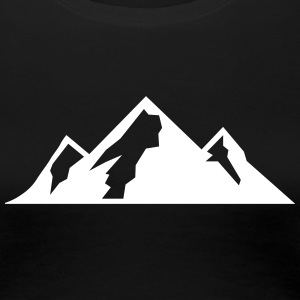Mountain Icon T-shirts - Dame premium T-shirt