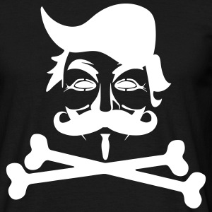 TRUMP ANONYMOUS MOUSTACHE PIRAT BONES T-Shirts - Männer T-Shirt