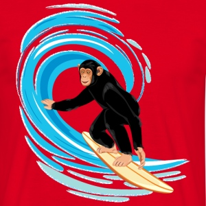 Monkey surfing tube wave - Men's T-Shirt