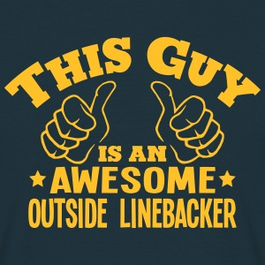 this guy is an awesome outside linebacke - T-shirt Homme