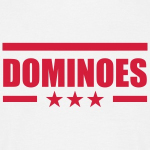 Domino / Dominoes / spil / puslespil T-shirts - Herre-T-shirt