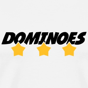 Domino / Dominoes / spil / puslespil T-shirts - Herre premium T-shirt
