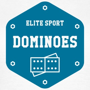 Domino / Dominoes / spil / puslespil T-shirts - Dame-T-shirt