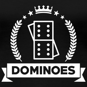 Domino / Dominoes / spil / puslespil T-shirts - Dame premium T-shirt