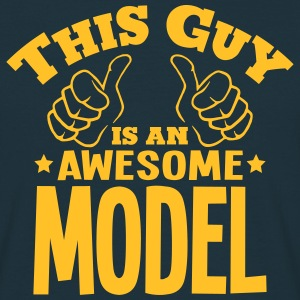 this guy is an awesome model - Men's T-Shirt