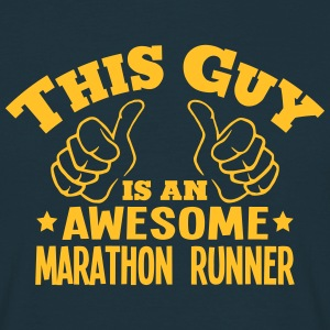this guy is an awesome marathon runner - Men's T-Shirt