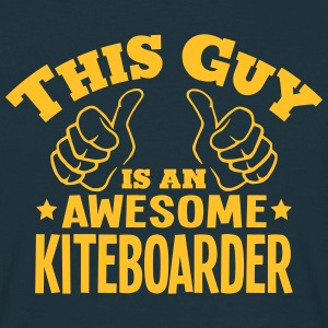 this guy is an awesome kiteboarder - T-shirt Homme