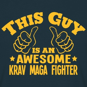this guy is an awesome krav maga fighter - Men's T-Shirt
