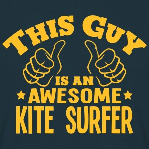 this guy is an awesome kite surfer - Men's T-Shirt
