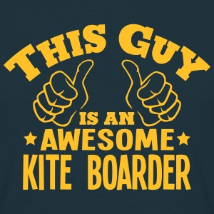 this guy is an awesome kite boarder - Men's T-Shirt