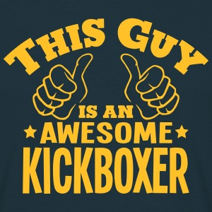 this guy is an awesome kickboxer - Men's T-Shirt
